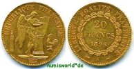 Frankreich 20 Francs 1896 vz+ Frankreich - 20 Francs - 1896 285,00 EUR 