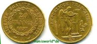 Frankreich 20 Francs 1897 ss/vz Frankreich - 20 Francs - 1897 280,00 EUR 