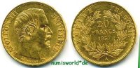 Frankreich 20 Francs 1857 vz+ Frankreich - 20 Francs - 1857 299,00 EUR 