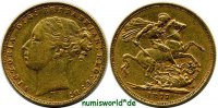 1 Sovereign 1877 Australien Australien - 1 Sovereign - 1877 ss+  435.25 US$ 388,00 EUR  +  35.90 US$ shipping