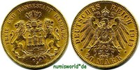 20 Mark 1913  Hamburg - 20 Mark - 1913 f. Stg  367,00 EUR  +  17,00 EUR shipping