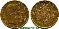 20 Francs 1877 Belgien Belgien - 20 Francs - 1877 vz+  262,00 EUR  zzgl. 6,00 EUR Versand