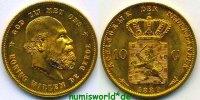 10 Gulden 1889 Niederlande Niederlande - 10 Gulden - 1889 Stg  360,00 EUR  + 17,00 EUR frais d'envoi