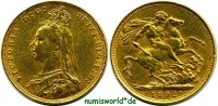 1 Sovereign 1892 Großbritannien Großbritannien - 1 Sovereign - 1892 ss ... 354.72 US$ 312,00 EUR