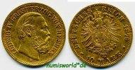 10 Mark 1879  Hessen - 10 Mark - 1879 ss  /  vz  761,00 EUR  zzgl. 6,00 EUR Versand