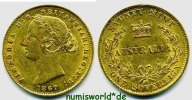 1 Sovereign 1867 Australien Australien - 1 Sovereign - 1867 vz  751.66 US$ 657,00 EUR  +  36.61 US$ shipping