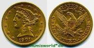 5 Dollars 1901 USA USA - 5 Dollars - 1901 vz  390,00 EUR  zzgl. 6,00 EUR Versand