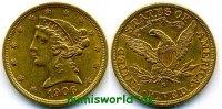 5 Dollars 1906 USA USA - 5 Dollars - 1906 vz  394,00 EUR  +  17,00 EUR shipping