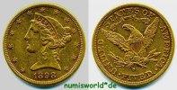 5 Dollars 1898 USA USA - 5 Dollars - 1898 vz-  398.46 US$ 356,00 EUR  +  35.82 US$ shipping