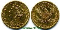 5 Dollars 1898 USA USA - 5 Dollars - 1898 vz-  382,00 EUR  Excl. 17,00 EUR Verzending