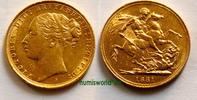 1 Sovereign 1881 Australien Australien - 1 Sovereign - 1881 vz+  633,00 EUR  + 17,00 EUR frais d'envoi