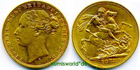 1 Sovereign 1872 Australien Australien - 1 Sovereign - 1872 vz  516,00 EUR  +  17,00 EUR shipping