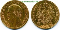 10 Mark 1873  Sachsen - 10 Mark - 1873 s  /  ss  253,00 EUR  + 17,00 EUR frais d'envoi
