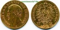 10 Mark 1873  Sachsen - 10 Mark - 1873 s  /  ss  253,00 EUR  Excl. 17,00 EUR Verzending