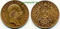 10 Mark 1903  Sachsen - 10 Mark - 1903 ss  /  vz  574,00 EUR  zzgl. 6,00 EUR Versand