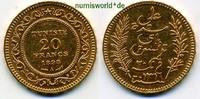 20 Francs 1898 Tunesien Tunesien - 20 Francs - 1898 vz  289,00 EUR  +  17,00 EUR shipping