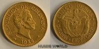 5 Pesos 1924 Kolumbien Kolumbien - 5 Pesos - 1924 vz+  414,00 EUR  Excl. 17,00 EUR Verzending