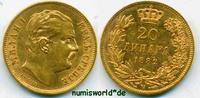 20 Dinara 1882 Serbien Serbien - 20 Dinara - 1882 vz  521.16 US$ 474,00 EUR  +  35.18 US$ shipping
