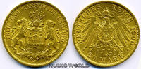 20 Mark 1900  Hamburg - 20 Mark - 1900 vz  369,00 EUR  +  17,00 EUR shipping