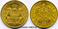 20 Mark 1913  Hamburg - 20 Mark - 1913 vz/Stg  381,00 EUR  +  17,00 EUR shipping