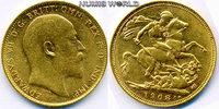1 Sovereign 1908 Australien Australien - 1 Sovereign - 1908 vz  426.28 US$ 380,00 EUR  +  35.90 US$ shipping
