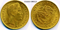 5 Pesos 1923 Kolumbien/Colombia Kolumbien/Colombia - 5 Pesos - 1923 vz  435,00 EUR  zzgl. 6,00 EUR Versand
