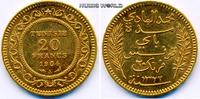 20 Francs 1904 Tunesien Tunesien - 20 Francs - 1904 vz  281,00 EUR  + 17,00 EUR frais d'envoi