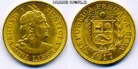 1 Libra 1917 Peru Peru - 1 Libra - 1917 vz  375,00 EUR  + 17,00 EUR frais d'envoi