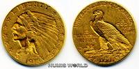 2 1/2 Dollars 1913 USA USA - 2 1/2 Dollars - 1913 vz  340,00 EUR  +  17,00 EUR shipping