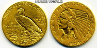 2 1/2 Dollars 1908 USA USA - 2 1/2 Dollars - 1908 vz  345,00 EUR  + 17,00 EUR frais d'envoi