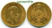 20 Mark 1873  Württemberg - 20 Mark - 1873 ss  440.86 US$ 393,00 EUR  +  35.90 US$ shipping