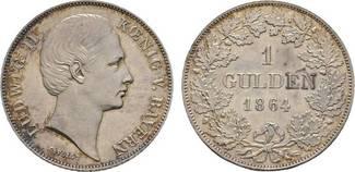 Gulden 1864 Bayern Ludwig II. 1864-1886 Vo...