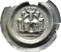 Brakteat 1156-1190 Sachsen-Meißen, Markgrafschaft Otto der Reiche 1156-1190 Sehr selten. Randabbruch, sehr schön - vorzüglich