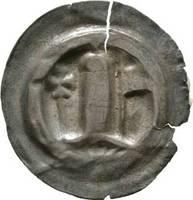 Brakteat 1156-1190 Sachsen-Meißen, Markgrafschaft Otto der Reiche 1156-1190 Von großer Seltenheit. Schrötlingsrisse, etwas hinterklebt, sehr schön