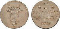 Probe Cu 3 Pfennig 1758 Schwerin Mecklenburg-Schwerin Friedrich 1756-17... 165,00 EUR kostenloser Versand