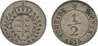 1/2 Kreuzer 1833 Württemberg Wilhelm I. 1816-1864 Fast Stempelglanz  145,00 EUR kostenloser Versand