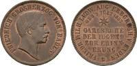 Cu Gedenkkreuzer 1857 Baden-Durlach Friedrich I. 1852-1907 Fast Stempel... 95,00 EUR  zzgl. 5,00 EUR Versand