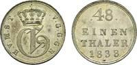 1/48 Taler 1838 Mecklenburg-Strelitz Georg 1816-1860 Fast Stempelglanz  95,00 EUR  zzgl. 5,00 EUR Versand
