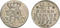 1/24 Taler 1752 F, Magdeburg Brandenburg-Preußen Friedrich II. 1740-178... 39,00 EUR  zzgl. 3,00 EUR Versand
