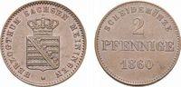 Cu 2 Pfennig 1860 Sachsen-Meiningen Bernhard Erich Freund 1803-1866 Vor... 23,00 EUR  zzgl. 3,00 EUR Versand