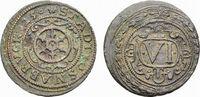 Cu 6 Pfennig 1625 Osnabrück, Stadt  Selten. Leicht dezentriert, etwas G... 58,00 EUR  zzgl. 5,00 EUR Versand