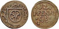 Kipper Cu 12 Pfennig 1622 Erfurt, Stadt  Winz. Prägeschwäche am Rand, s... 49,00 EUR  zzgl. 3,00 EUR Versand