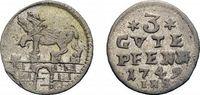 3 Gute Pfennig 1749 IHS Anhalt-Bernburg Victor Friedrich 1721-1765 Selt... 78,00 EUR  zzgl. 5,00 EUR Versand