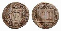 Cu 4 Pfennig 1708 Coesfeld, Stadt  Selten. Gewellt, sehr schön  88,00 EUR  zzgl. 5,00 EUR Versand