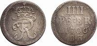 4 Pfennig 1706 BH Minden Brandenburg-Preußen Friedrich I. 1701-1713 Sel... 148,00 EUR kostenloser Versand