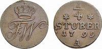 Cu 1/4 Stüber 1799 A Brandenburg-Preußen Friedrich Wilhelm III. 1797-18... 36,00 EUR  zzgl. 3,00 EUR Versand
