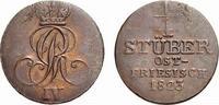 Cu 1/4 Stüber 1823 B Braunschweig-Calenberg-Hannover Georg IV. 1820-183... 59,00 EUR  zzgl. 5,00 EUR Versand