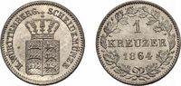 Kreuzer 1864 Württemberg Wilhelm I. 1816-1864 Fast Stempelglanz  18,00 EUR  zzgl. 3,00 EUR Versand