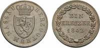 Cu Kreuzer 1842 Nassau Adolph 1839-1866 Vorzüglich - Stempelglanz  36,00 EUR  zzgl. 3,00 EUR Versand