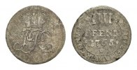 Corvey, Abtei Cu 4 Pfennig 1765 Braunschweig Sehr selten. Kl. Randfehler... 59,00 EUR  zzgl. 5,00 EUR Versand
